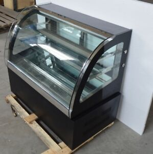 220v Commercial Diamond Glass Display Case Countertop Refrigerated Cake Showcase