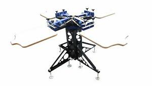 4 Color Screen Printing Press 4 Station Double Rotary T shirt Screen Printer