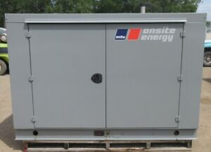 30 Kw Mtu Gm Natural Gas Or Propane Generator Genset 281 Hours Mfg 2010