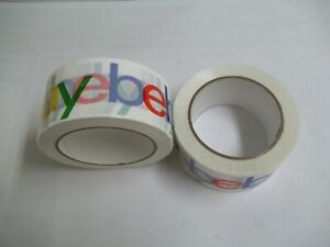 2 Rolls Colorful Ebay Logo Packing Tape 2in X 75yds New From Bulk Pack Free Ship