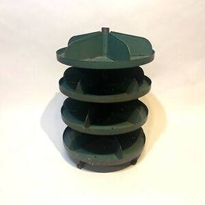 Vintage Green Rotating Countertop Parts Bin Hardware Store Industrial