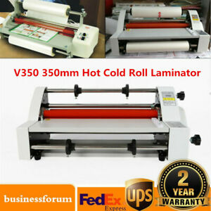 V350 Hot Cold Roll Laminator Laminating Machine Single dual Sided 13 350mm Sale