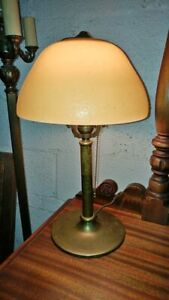 Art Deco Small Lamp Vanity Dresser Lamp Heavy Brass So Nice