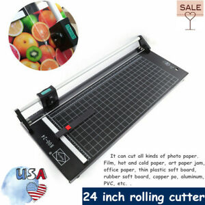 24 Inch 610mm Manual Precision Rotary Paper Trimmer Sharp Photo Paper Cutter