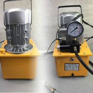 Electric Hydraulic Pump Power Pack 2 Stage Single Acting 110v 10k Psi 70mpa Usa
