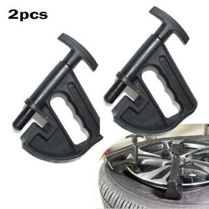 2pcs Manual Black Plastic Tire Changers Bead Breaker Clamp Hand Tools Equipment