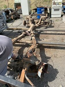 1959 Chevy Impala Rust Free Straight Frame Chassis With Rear End