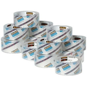 Scotch Heavy Duty Shipping Packaging Tape 1 88 Inches X 54 6 Yards Cle
