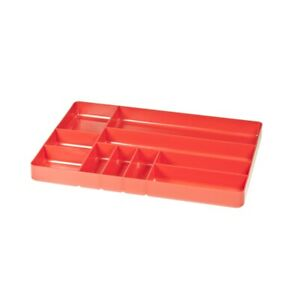 Ernst 10 compartment Plastic Organizer Tray Red Ern5010 Brand New