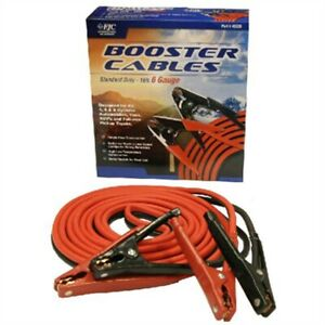 Heavy Duty Battery Booster Cables 16 Foot 6 Gauge With 600 Amp Clamps New