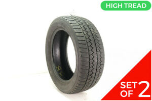 Set Of 2 Used 245 55r18 Goodyear Eagle Enforcer All Weather 103v 8 32