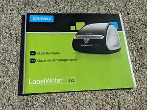 Manual Only Dymo Labelwriter 4xl Thermal Printer Instructions Quick Start Guide