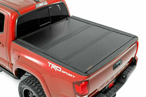 Rough Country Low Profile Hard Tri fold Fits 16 20 Toyota Tacoma 5 Bed Tonneau