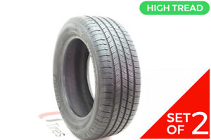 Set Of 2 Driven Once 235 55r17 Michelin Defender T H 99h 11 32