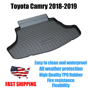 Car Trunk Mat Cargo Liner Protection Floor Mats Fits For Toyota Camry 2018 2019