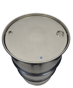 55 Gallon 301 Stainless Steel Drum Closed Top New Other Thick 3 4 2 Inch Bungs