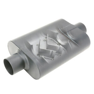 Stainless Welded Chamber Performance Muffler 2 5 Inch Offset Inlet Centre Outlet