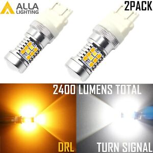 Led White Yellow Switchback Turn Signal Light Lamp For Chevy Suburban Tahoe pair