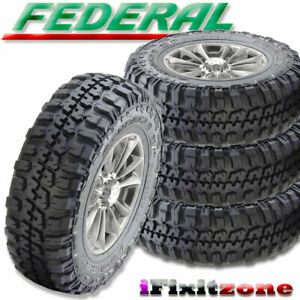 4 New Federal Couragia M T 37x12 50r20lt 10ply 126q All Season Radial Mud Tires