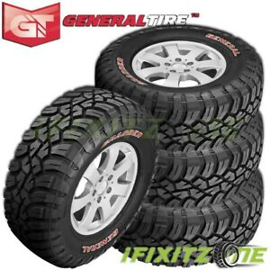 4 General Grabber X3 37x13 50r20lt 127q 10 ply Red Letter Jeep Truck Mud Tires