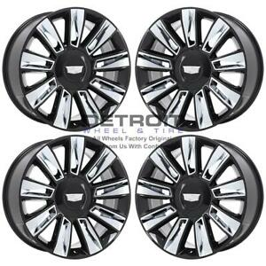 22 Cadillac Escalade Gloss Black Exchange Wheels Rims Factory Oem 4740 2015