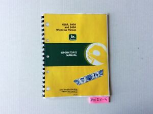 John Deere 630a 640a And 645a Windrow Pickup Operator s Manual Omcc47862
