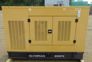 30 Kw Olympian Ford Natural Gas Or Propane Generator Genset V6 Engine