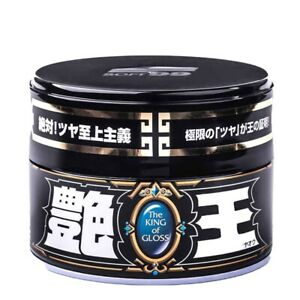 Soft99 The King Of Gloss Black Dark Wax Solid Japan Car Auto Care Thick Heavy