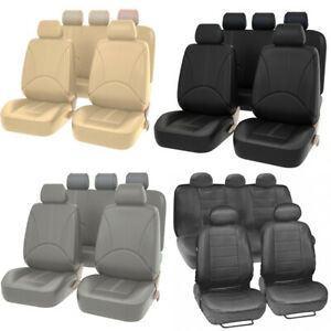 Universal Car Seat Covers Front Rear 5 sit Full Set Durable For Auto Suv Truck