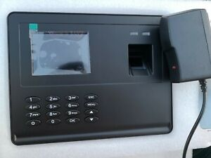 Check In Time Clock Fingerprint Biometric Password Attendance Machine New B4p9