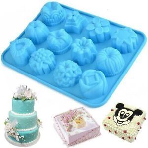 Silicone Baking Mold Cake Pan Mould Chocolate Muffin Cupcake Candy Tray Cookie £ $85.00