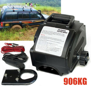 Portable Electric Winch 62000 Lb 12 Volt Remote Towing Hitch Truck Trailer Boat
