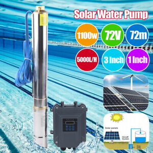 3 Dc 72v 1 5hp Deep Bore Well Solar Water Pump Submersible Mppt Controller Kits