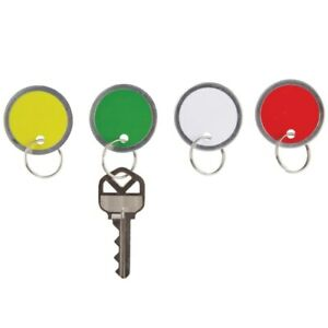 Office Depot Brand Round Key Tags 1 25 Diameter Assorted Colors Pack Of 50