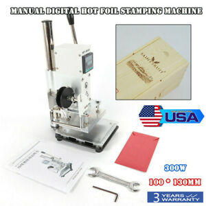 Manual Hot Foil Stamping Machine Leather Pvc Embossing Printer Fast Shipping New