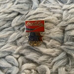 Coca Cola Olympics Rings Pin Button Soda Games