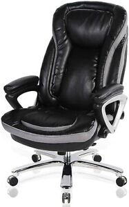 High back Executive Leather Chair With Thick Padding