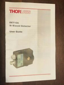 Thorlabs Det10a Si Biased Detector 200 1100nm New