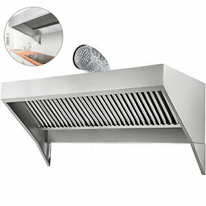 7 x30 Food Truck trailer Concession Hood Exhaust Fan W filter Stainless Steel