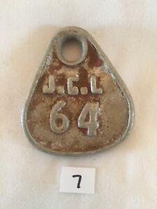 Collectible Aluminum Metal Rare Vintage Cattle Livestock Neck Tag jcl 64 Lot 7