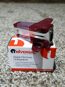 Universal Staple Remover Univ 00700 Burgundy Brand New Buy More Save More