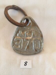 Collectible Aluminum Metal Rare Vintage Cattle Livestock Neck Tag jcl 370 Lot 8