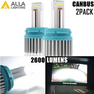 Led Bright White Reverse Light Bulbs Back Up Lamps For 2015 2017 Ford F 150 pair