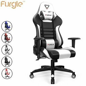 Ergonomic Racing Gaming Office Chair Racer Pu Leather Computer Recliner Seat Usa