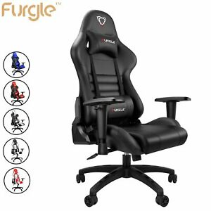Furgle Gaming Chair Office Executive Racing Chair Leather Computer Seat Recliner