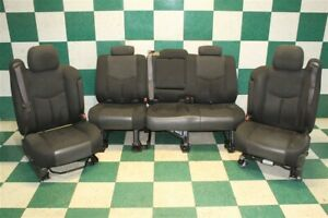 03 06 Avalanche Black Cloth Buckets Seat Front Left Power Right Manual Backseat