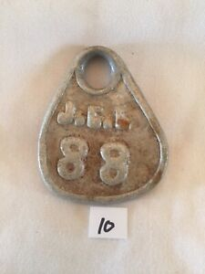 Collectible Aluminum Metal Rare Vintage Cattle Livestock Neck Tag jcl 88 Lot 10