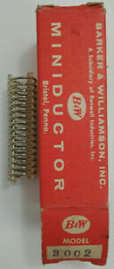 0 72 Uh B w Miniductor 3002 Vintage Air Core Inductor 2 1 2 Dia 8 Tpi 18awg