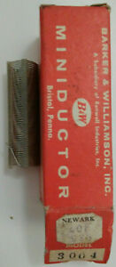 12 Uh B w Miniductor 3004 Vintage Air Core Inductor 2 1 2 Dia 32 Tpi 24 Awg
