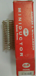 1 13 Uh B w Miniductor 3006 Vintage Air Core Inductor 2 5 8 Dia 8 Tpi 18 Awg